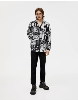 Black And White Print T Shirt by Pull & Bear