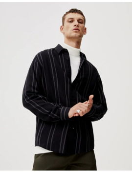Black Shirt With Contrast Stripes by Pull & Bear