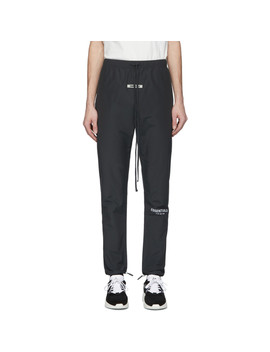 Black Canvas Lounge Pants by Essentials