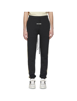 Black Side Panel Lounge Pants by Essentials