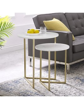 Feickert 2 Piece Nest Of Tables by Mercury Row