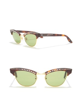49mm Crystal Accented Cat Eye Sunglasses by Gucci
