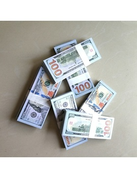 Prop Reproduction 100 Dollar Copy Prop Cash Bills Practice Training Paper For Movie, Tv, Videos, Advertising ,Show Off Pretend Money by Wish