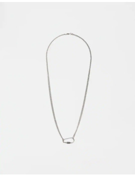 Silver Coloured Necklace With Lobster Clasp by Pull & Bear