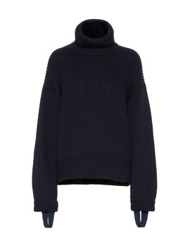 Wool And Cotton Turtleneck Sweater by Helmut Lang