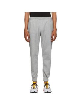 Grey Fleece Sportswear Club Lounge Pants by Nike