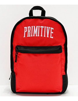 Primitive Collegiate Arch Homeroom Blue, Grey & Red Backpack by Primitive