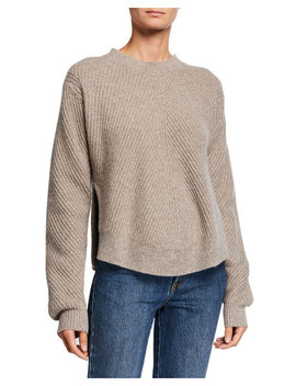 Co Cashmere Chevron Ribbed Sweater by Co
