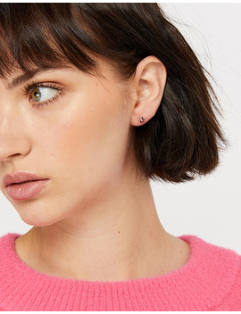 3 X Sterling Silver Stud Earrings With Swarovski® Crystals by Accessorize