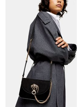 Dazzle Black Panther Cross Body Bag by Topshop