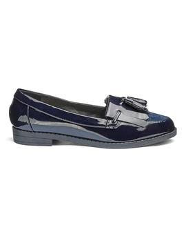 Slip On Fringe And Tassel Loafers Wide E Fit by Simply Be