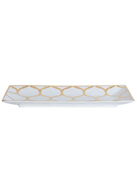 Nevaeh White® By Fitz And Floyd® Lattice Trinket Tray In Gold by Bed Bath And Beyond