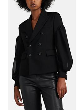 Wool Layered Sleeve Blazer by Comme Des Garçons