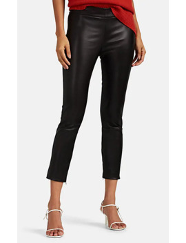 Mino Leather Crop Pants by The Row
