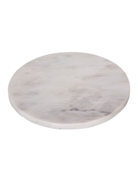 Large White Marble Round Plate Large White Marble Round Plate by Broste Copenhagen