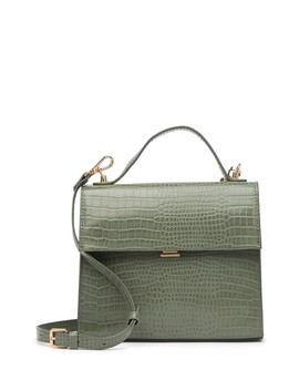 Vegan Leather Croc Embossed Satchel by Urban Expressions