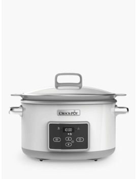 Crock Pot Csc026 Dura Ceramic™ Sauté 5 L Slow Cooker, White by Crock Pot Csc026 Dura Ceramic
