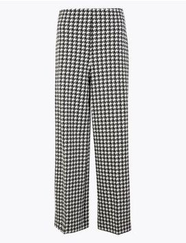 Wide Leg Ponte Trousers by Marks & Spencer