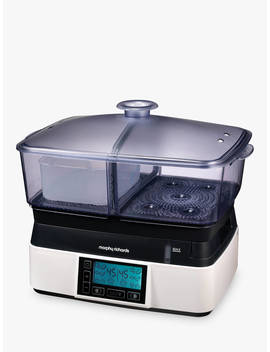Morphy Richards Compact Intellisteam Food Steamer, White by Morphy Richards