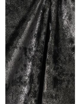 Houston Cutout Metallic Stretch Knit Turtleneck Thong Bodysuit by Alix Nyc