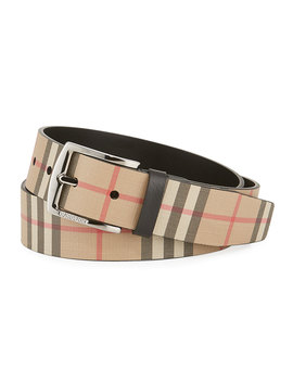 Men's Archive Check Belt by Burberry