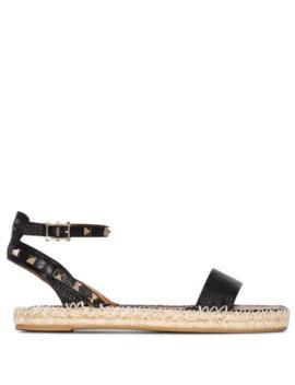 Valentino Garavani Rockstud Espadrille Sandals by Valentino