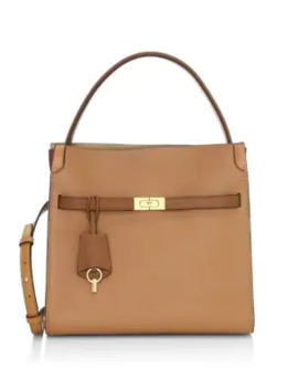 Lee Radziwill Leather Satchel by Tory Burch
