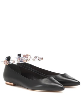 Dina Leather Ballet Flats by Sophia Webster