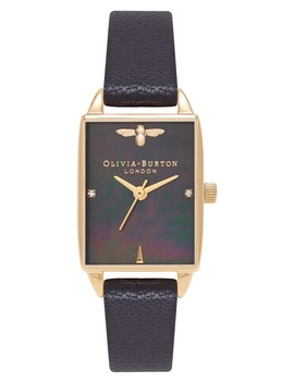 Beehive Leather Strap Watch, 20mm by Olivia Burton
