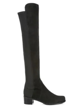Reserve Over The Knee Suede Boots by Stuart Weitzman