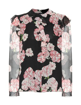 Floral Silk Crêpe Blouse by Giambattista Valli