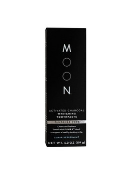 Moon Activated Charcoal Fluoride Free Whitening Lunar Peppermint Toothpaste   4.2oz by Moon
