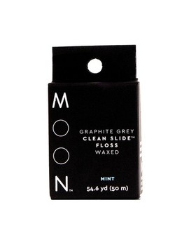 Moon Graphite Grey Clean Slide Floss Mint   54yd by Moon