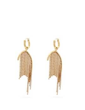 Latham Crystal Strand Drop Earrings by Ellery
