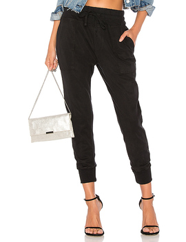 Contrast Sweatpant In Black by James Perse