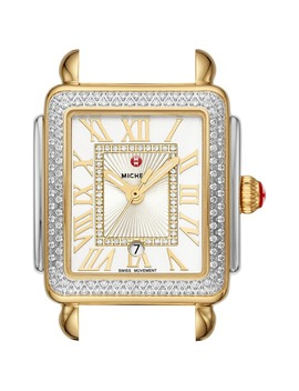 Deco Madison Diamond Dial Watch Head, 29mm X 31mm by Michele