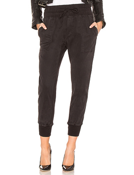 Contrast Sweatpant In Carbon by James Perse