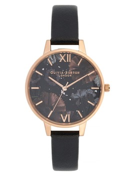 Celestial Leather Strap Watch, 34mm by Olivia Burton