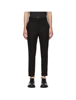 Black Skinny Zip Trousers by Neil Barrett