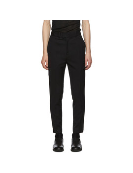 Black Piping Trousers by Isabel Benenato