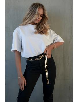 Oversized T Shirt Hvid by Hannaschonbergxnakd