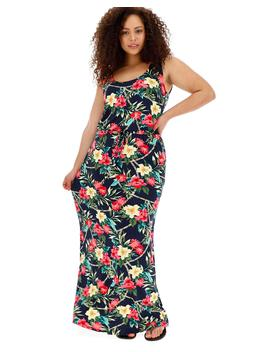 Floral Print Vest Maxi Dress by Simply Be