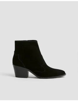 Leather Cowboy Ankle Boots by Pull & Bear