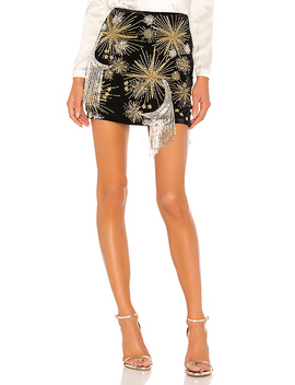Ginger Skirt In Black & Silver Star Mix by Retrofete