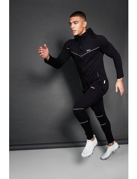 Active Zip Through Hooded Skinny Tracksuit by Boohoo