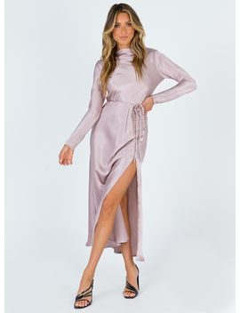 Bari Maxi Dress Mauve by Princess Polly