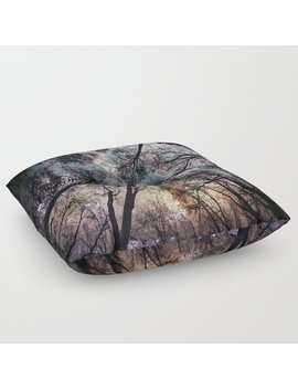 Starry Sky In The Forest Floor Pillow by Society6