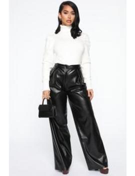 I Do What I Say Pant   Black by Fashion Nova
