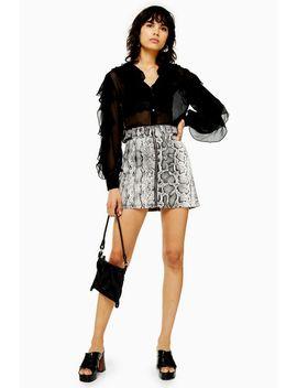 Tall Smoke Snake Denim Skirt by Topshop