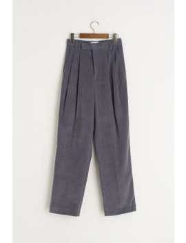 Be Pleated Cord Pants, Blue by Olive